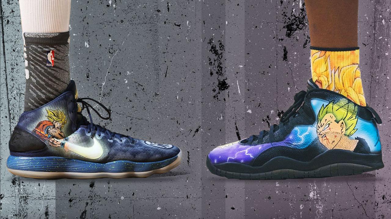 customized NBA sneakers