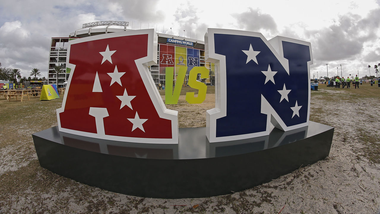 ORLANDO, FL - JANUARY 28: A general view outside of Camping World Stadium before the start of the 2018 NFL Pro Bowl Game between the NFC team against the AFC team on January 28, 2018 in Orlando, Florida.