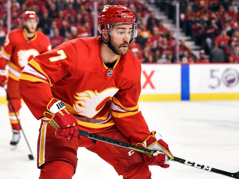 Flames' Brodie returns to practice, listed as game-time decision Monday