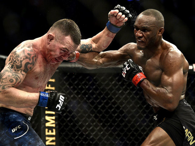 Usman Covington Get In Heated Exchange On Ufc Postfight Show Thescore Com