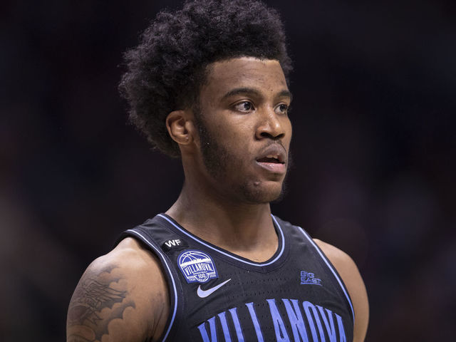 CINCINNATI OH - FEBRUARY 22 Saddiq Bey 41 of the Villanova Wildcats is seen during the game against the Xavier Musketeers at Cintas Center on February 22 2020 in Cincinnati Ohio
