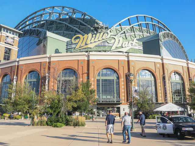 MILWAUKEE WI - SEPTEMBER 17 Miller Park before the second game of a four game home series between the Milwaukee Brewers and the San Diego Padres on September 17 2019 at Miller Park in Milwaukee WI