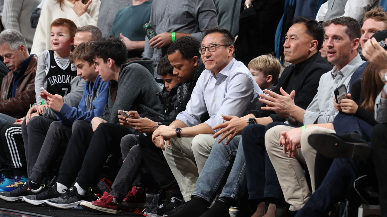 BROOKLYN, NY - DECEMBER 8: Brooklyn Nets owner Joseph Tsai attends a game between the Brooklyn Nets and the Denver Nuggets on December 8, 2019 at Barclays Center in Brooklyn, New York. Mandatory Copyright Notice: Copyright 2019 NBAE