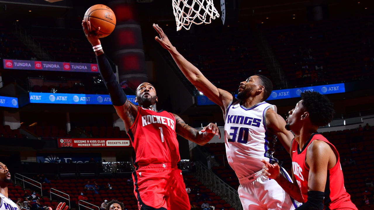 Wall drops 28, Rockets beat Kings with Harden injured | theScore.com