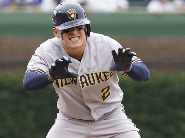 Brewers' Urias ties MLB record with 5 extra-base hits in rout of Cubs    theScore.com